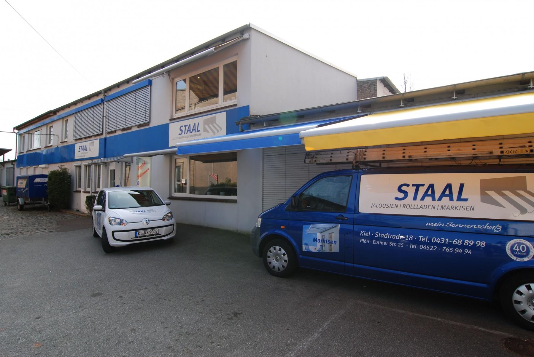 Der Hauptbetrieb von Staal Rollladen und Sonnenschutz in Kiel
