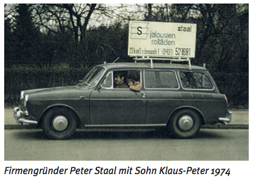 Firmengründer Peter Staal mit Sohn Klaus-Peter 1974