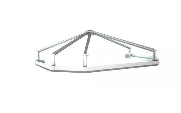Vordach Modell Opal 1 - Staal Vordachdesign