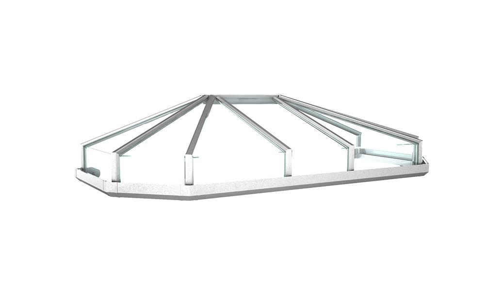 Vordach Modell Opal 2 - Staal Vordachdesign Kiel