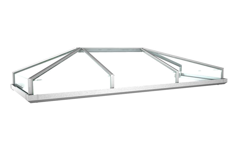 Vordach Modell Kristall 2 Aus Aluminium Mit Acrylverglasung