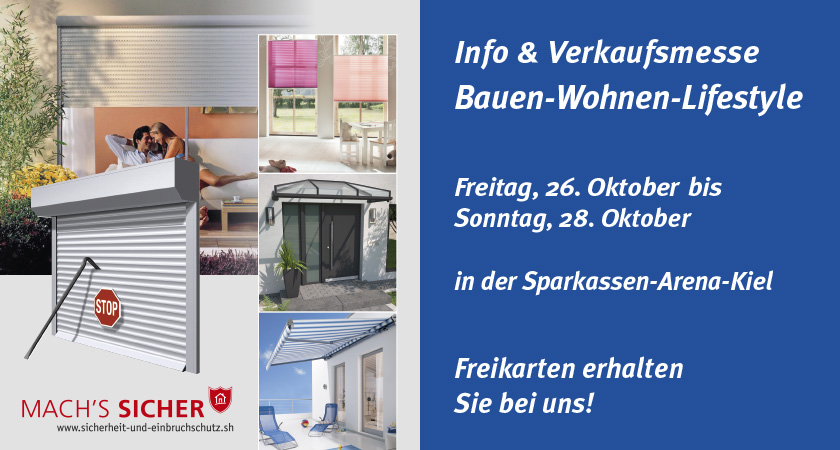 Bauen-Wohnen-Lifestyle Messe 2018 in Kiel